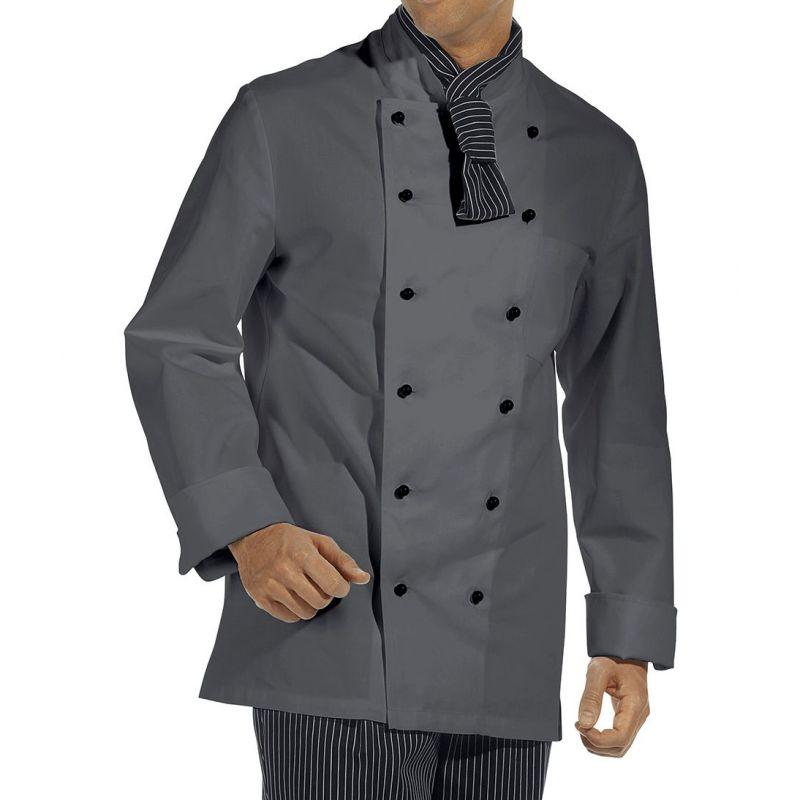 Veste de cuisine poche sur la manche larges manchettes for Veste de cuisine