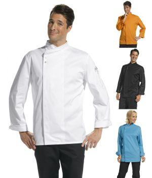 Veste de cuisine en tissu très léger pour un confort idéal, boutons pression