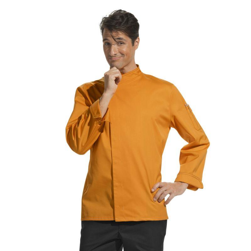 veste cuisine tissu trs lger confort idal mangue - Veste De Cuisine Orange