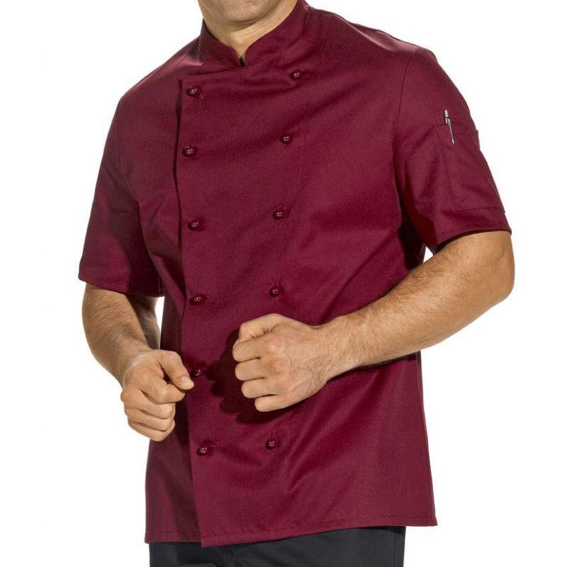 Veste de cuisine bordeaux