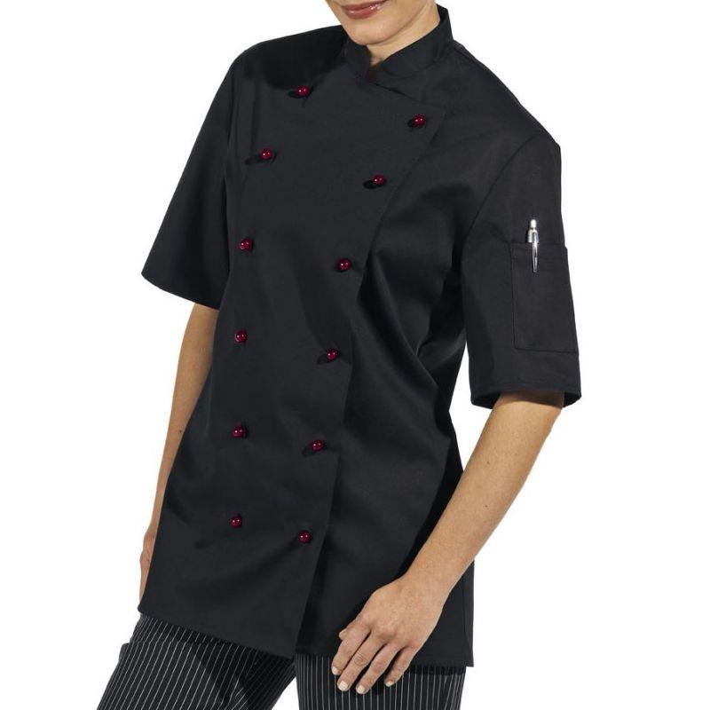 Veste cuisine noire manche courte
