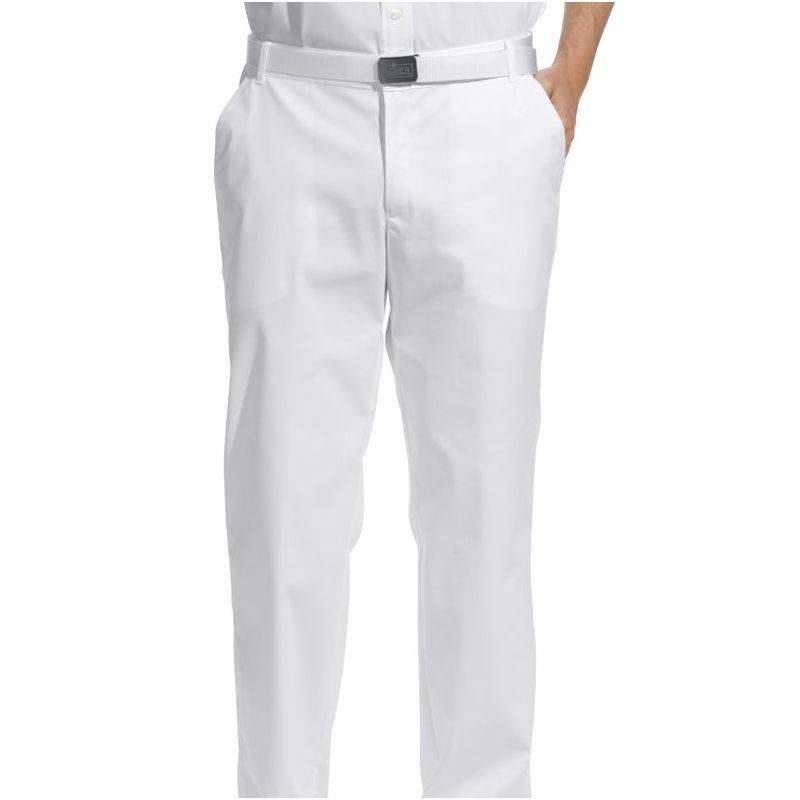 pantalon blanc hommes taille confortablement lastiqu e. Black Bedroom Furniture Sets. Home Design Ideas