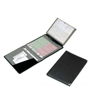 Classeur pour ordonnances, 19,5 cm x 25 cm, cuir anti-rayures