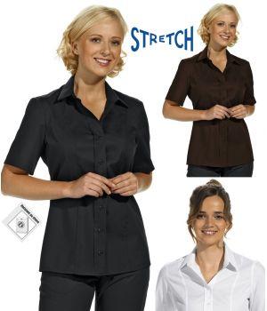Chemisier manches demi, Stretch extrêmement confortable, ligne impeccable