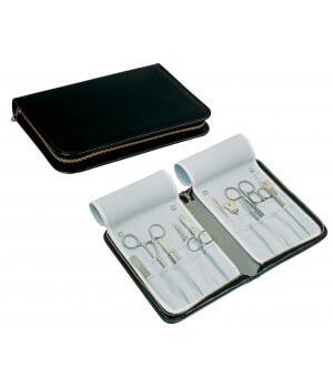 Trousse pour instruments, 18 x 10 cm, cuir véritable anti-rayures