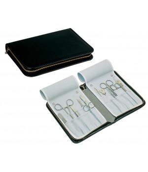 Trousse pour instruments, 21 x 15 cm, cuir véritable, anti-rayures