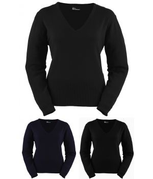 Pull sweater femme Marine, manches longues,Stretch confort.