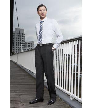 Pantalon homme Noir  taille 44, 1 pli lâché Laine-Trevira