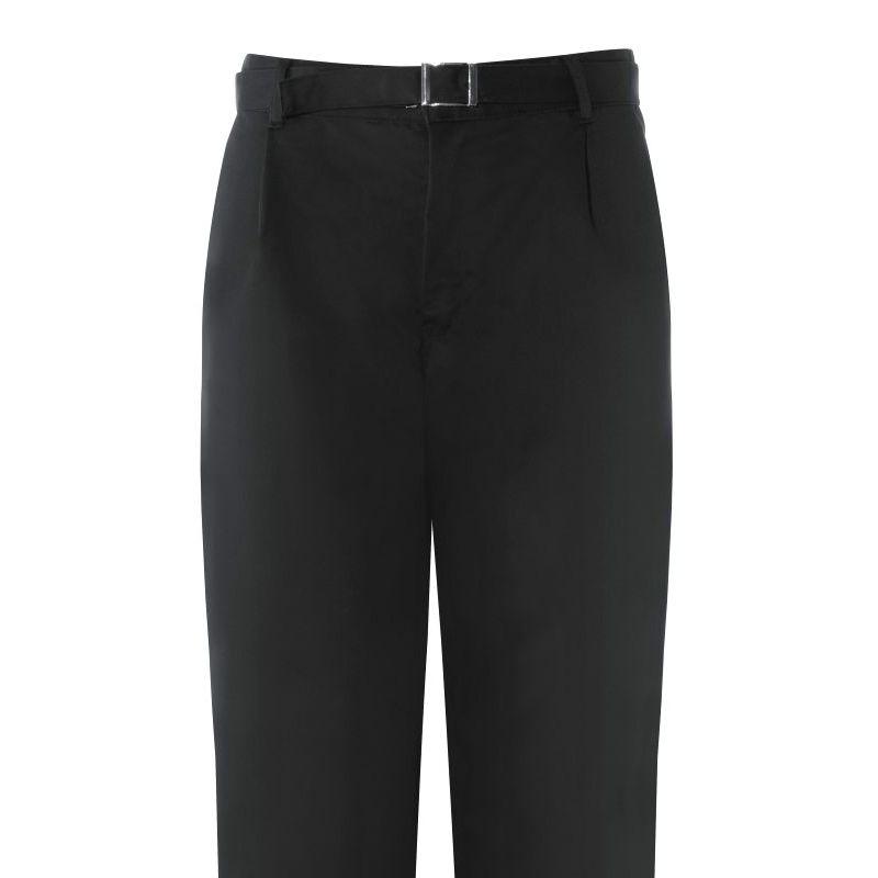 Pantalon cuisine 50 polyester 50 coton noir taille 42 for Pantalon cuisine noir