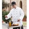 Veste de cuisine Coutures viennoises blanc Col officier