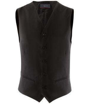 Gilet barman, serveur, poches passepoilées, 5 boutons