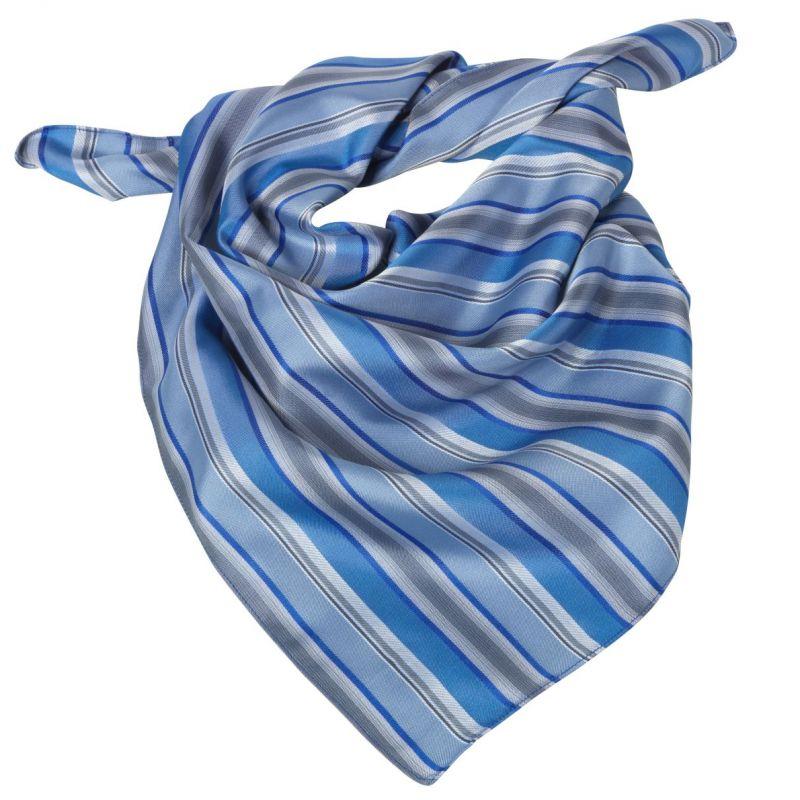 Foulard femme rayures bleu et gris, lavable 9978ea7e4c1