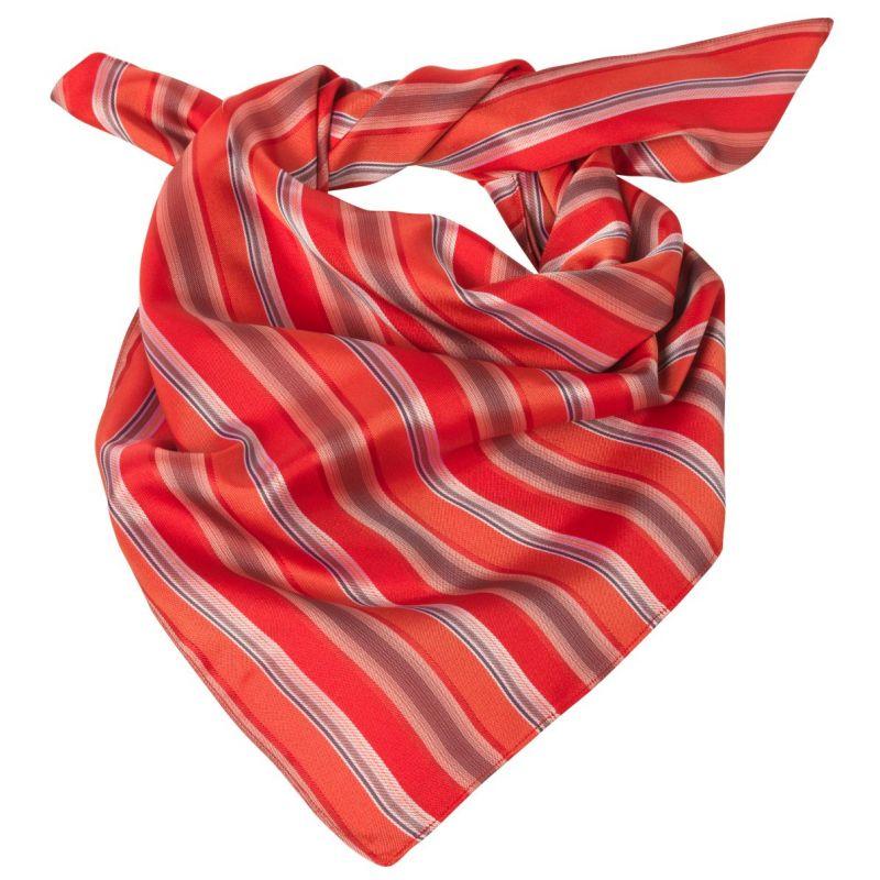 Foulard femme rayures rouge et gris, lavable 53526ce12ce4