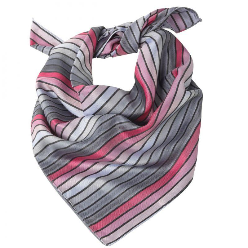 Foulard femme rayures rose et gris, lavable dc25e11789b