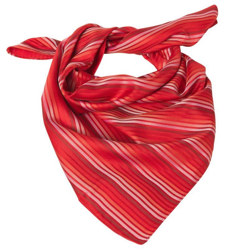... lavable  Foulard femme carré rayé rouge-blanc ... 362104322b00
