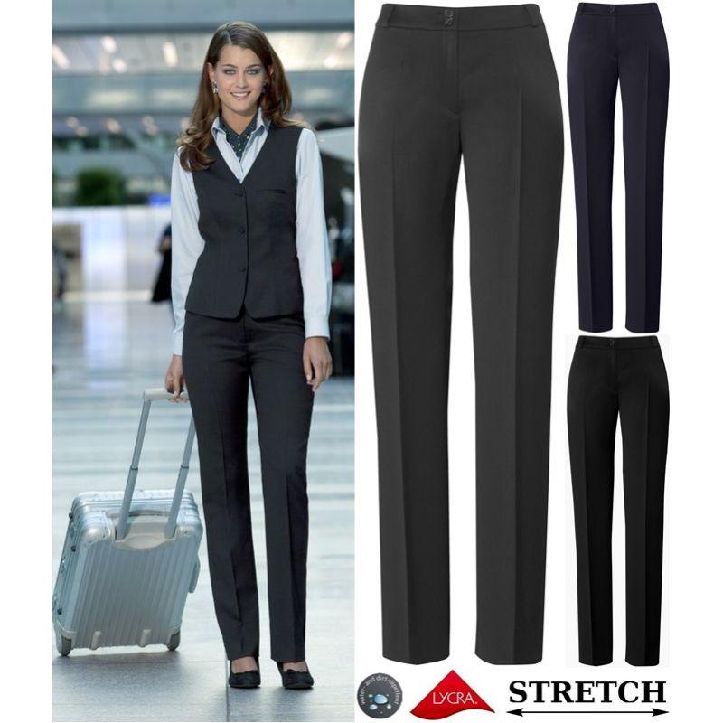 Pantalon femme, Coupe droite, Confort Laine, Lycra et Stretch