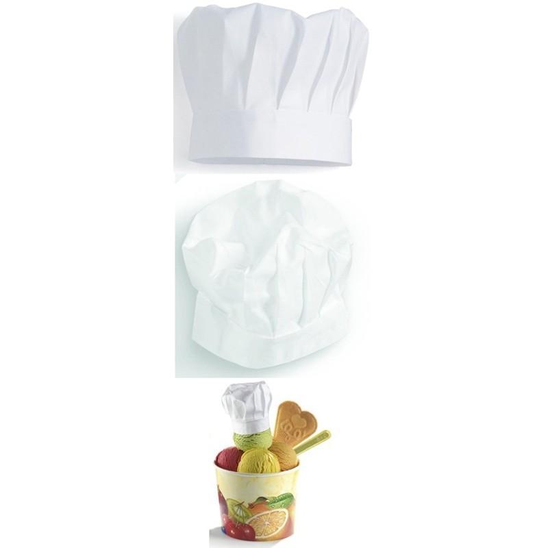 toque cuisine chef p tissier hauteur 220 mm 100 coton paquet de 2. Black Bedroom Furniture Sets. Home Design Ideas