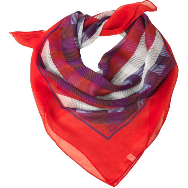 29efe7dc242 ... Foulard carré femme à carreaux rouge et gris ...