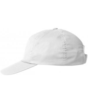 Casquette Blanche, polyester coton, Velcro ajustable