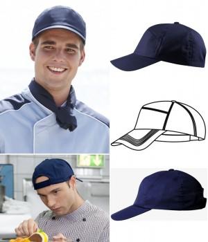 casquette Bleu marine, polyester coton, Velcro ajustable