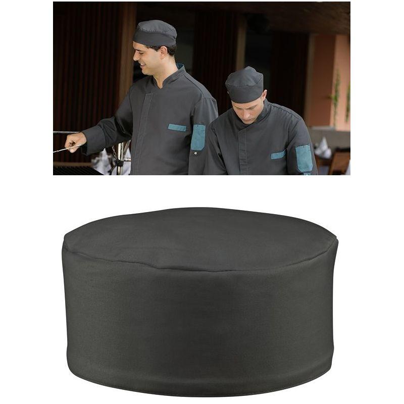 calot cuisine anthracite soufflet lastique le paquet de 3. Black Bedroom Furniture Sets. Home Design Ideas