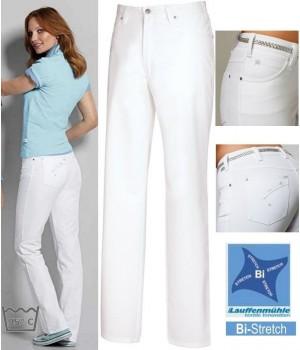Pantalon femme, Bi-stretch, Coupe jean, Rivets et surpiqûre décorative en métallique argenté