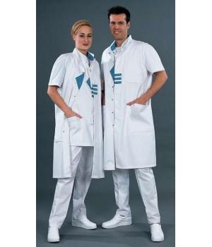 Blouse médicale homme et femme, Modèle raglan, pressions invisibles
