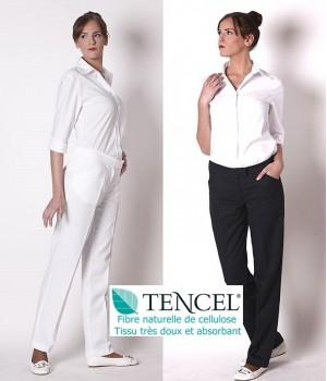 Pantalon femme, élégant et parfaitement bien ajusté, tissu Tencel confort