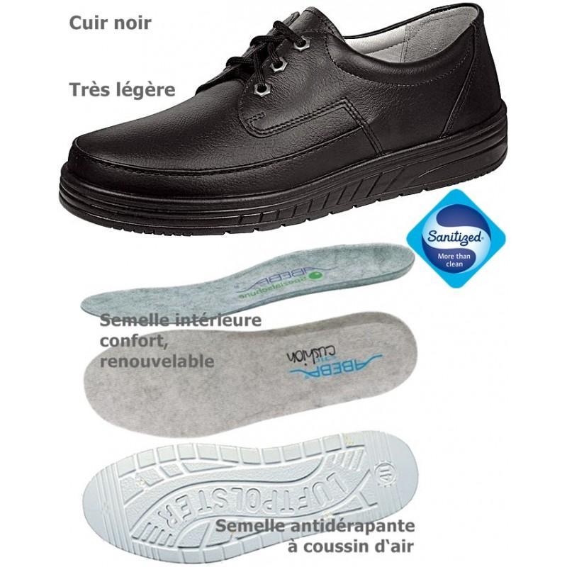 chaussures de travail noir cuir coussin d 39 air. Black Bedroom Furniture Sets. Home Design Ideas