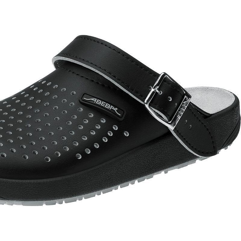 chaussures de travail dessus et semelle int rieure cuir semelle antid rapante noires. Black Bedroom Furniture Sets. Home Design Ideas