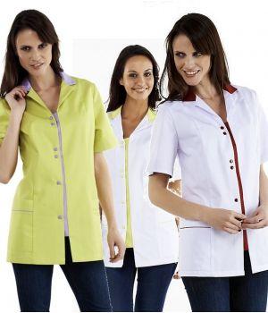Tunique bicolore, Boutons pressions, patte devant et col en couleur