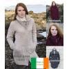 Manteau de laine, col double, laine Merino extra douce