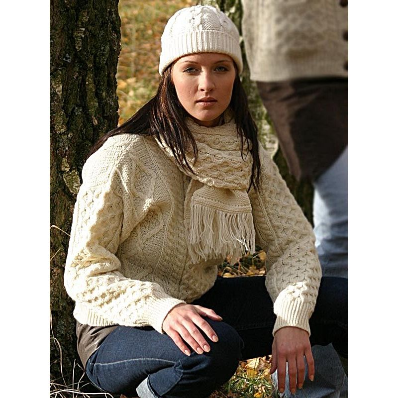 pullover irlandais ras de cou 100 pure laine vierge pour homme et femme. Black Bedroom Furniture Sets. Home Design Ideas