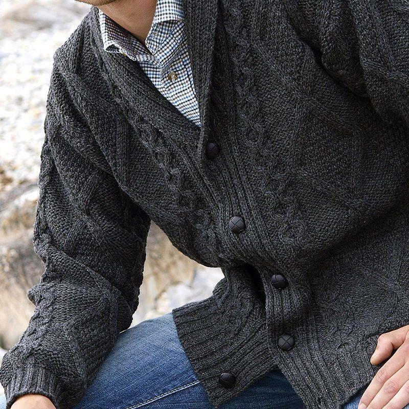 veste irlandaise 100 pure laine m rino col ch le pour homme et femme. Black Bedroom Furniture Sets. Home Design Ideas