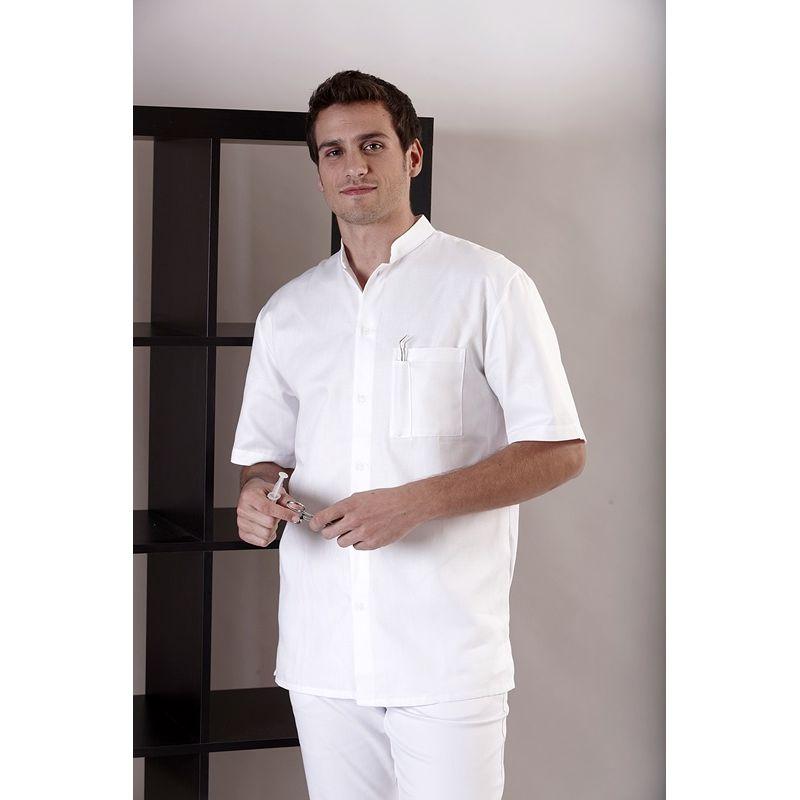 chemise homme manches courtes col officier coton. Black Bedroom Furniture Sets. Home Design Ideas