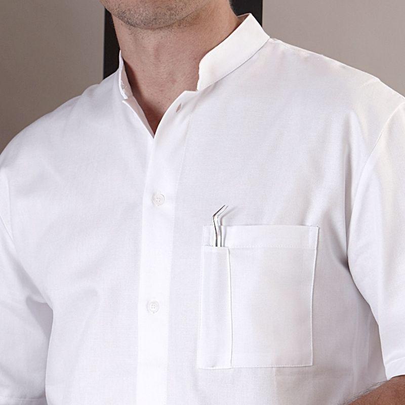 aspect esthétique officiel de vente chaude livraison rapide Chemise Blanche homme, manche courte, 100% Coton