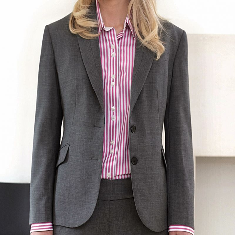 veste femme 2 boutons coupe ajust e pour un look impeccable. Black Bedroom Furniture Sets. Home Design Ideas
