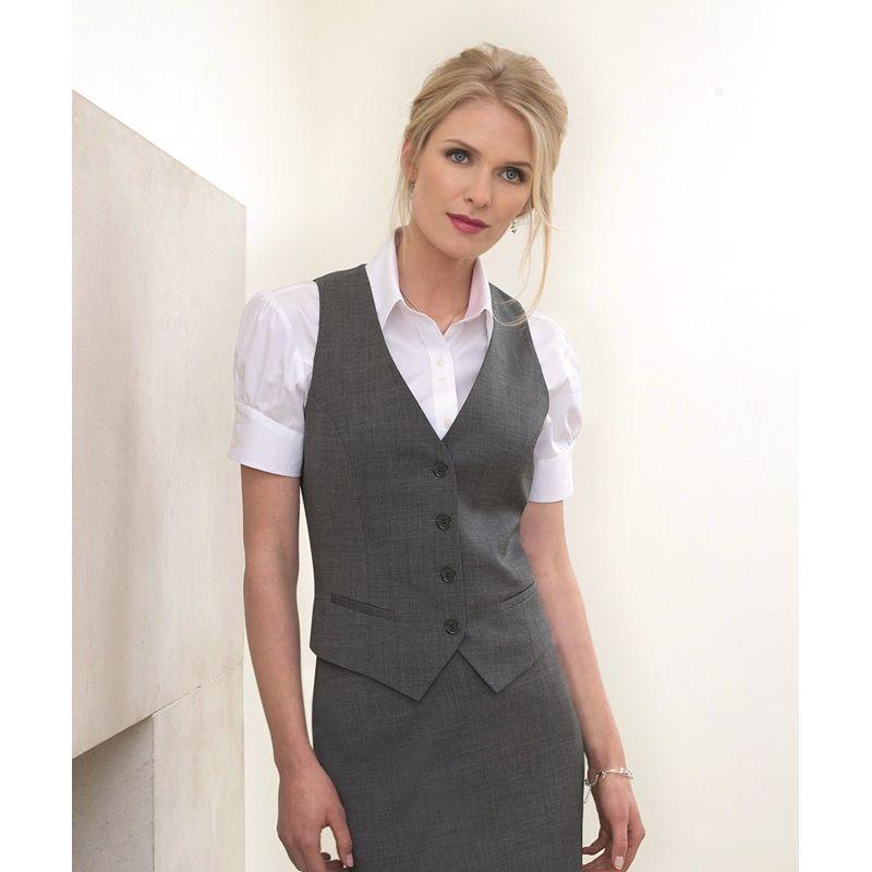 mode attrayante lisse grande remise Gilet femme, 4 boutons, pour un look impeccable, résistant et peu froissable