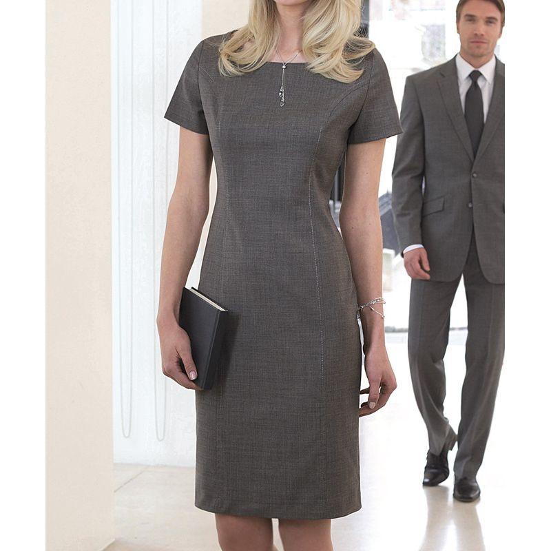 ddee60793ac Robe droite grise robe longue rose pale
