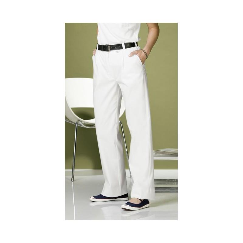 pantalon blanc femme polyester coton tissu comfortec stretch. Black Bedroom Furniture Sets. Home Design Ideas
