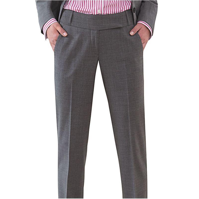 pantalon femme chic coupe droite 2 poches avant. Black Bedroom Furniture Sets. Home Design Ideas