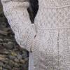 Manteau de laine en tricot irlandais laine Merino Beige chiné