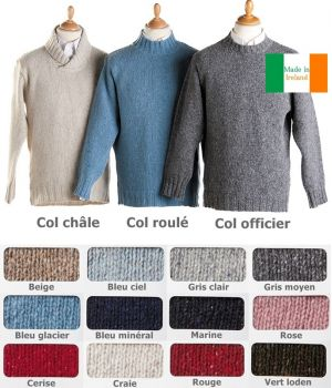Pull homme, Laine et Cashmere, Made in Ireland