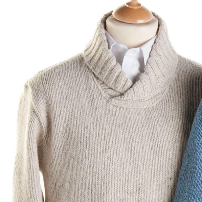 pull homme laine et cashmere made in ireland. Black Bedroom Furniture Sets. Home Design Ideas