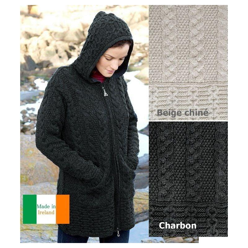 Long Cardigan Homme Cardigan Irlandais Long Pour