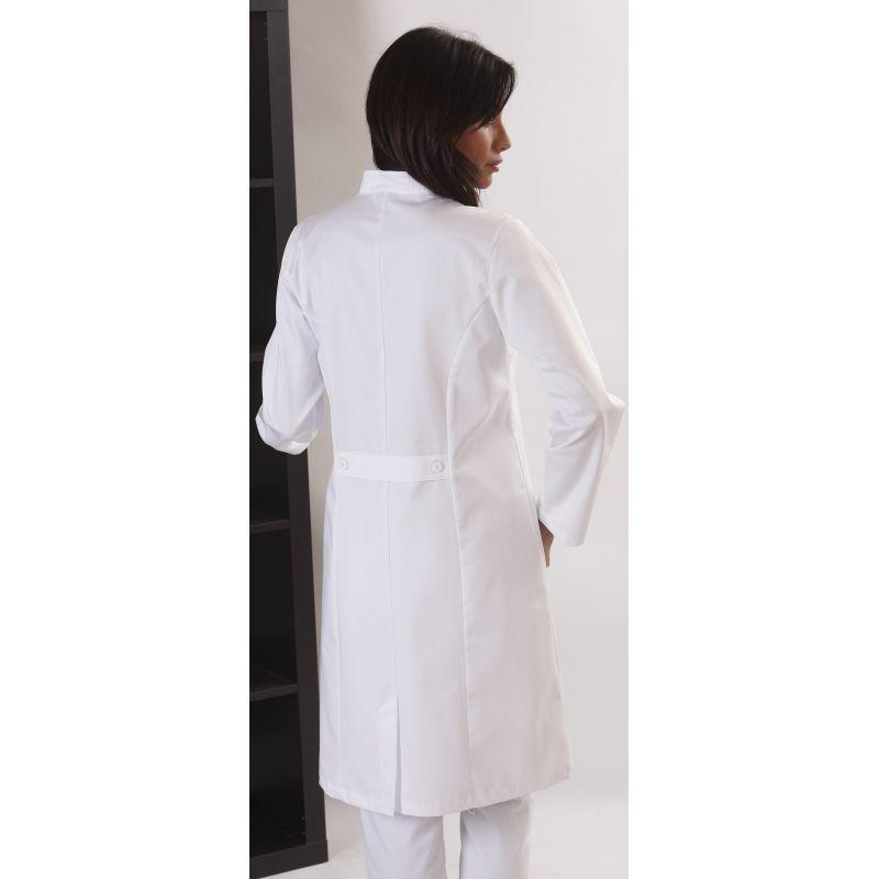 blouse femme manches longues 100 coton ceinture avec boutons. Black Bedroom Furniture Sets. Home Design Ideas