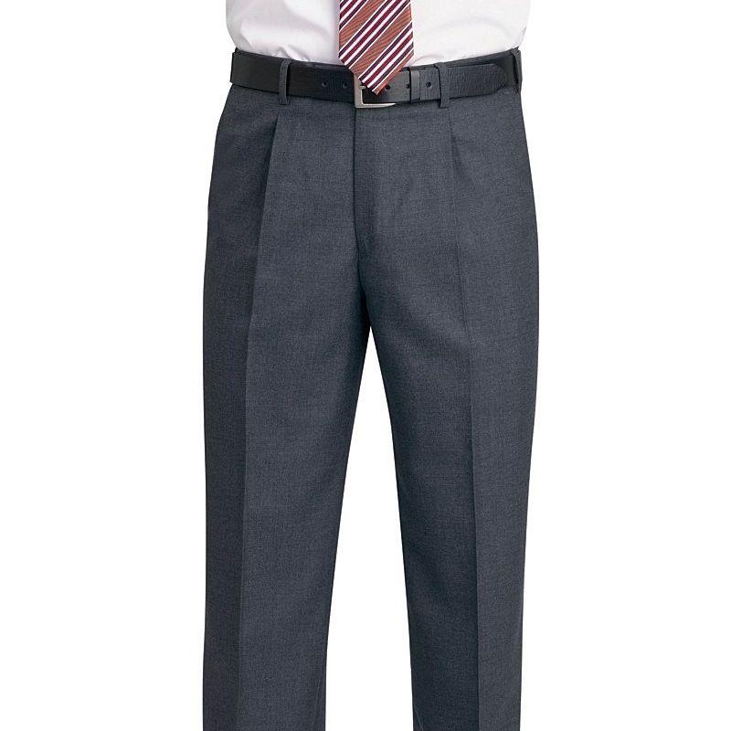 pantalon homme a pinces 1 poche arri re entretien facile. Black Bedroom Furniture Sets. Home Design Ideas