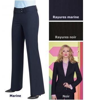 Pantalon femme Taille 36 Marine, Taille basse