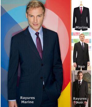 Veste de costume homme, 2 boutons, Coupe ajustée, lavable