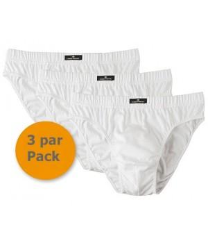 Slip blanc homme, Taille S, 100% Coton, Pack de 3
